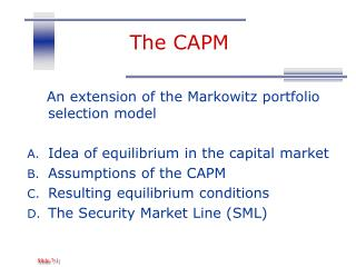 The CAPM
