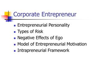 Corporate Entrepreneur