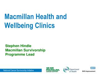 Macmillan Health and Wellbeing Clinics