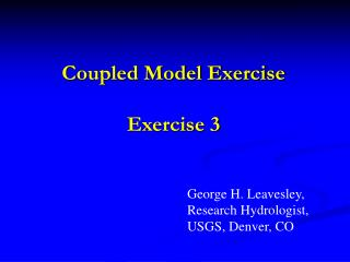 Coupled Model Exercise  Exercise 3