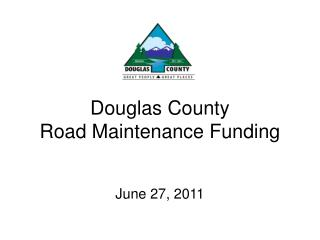 Douglas County Road Maintenance Funding