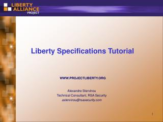 Liberty Specifications Tutorial