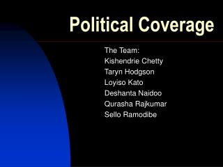 Political Coverage