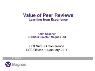 Value of Peer Reviews Learning from Experience