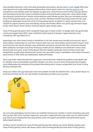 Pilih Yg Akuratnya Jersey Printing Euro 2020 Bakal Menciptakan Kalian Profit