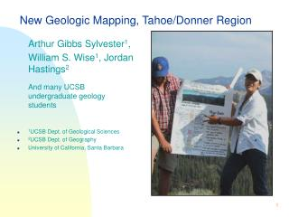 New Geologic Mapping, Tahoe/Donner Region
