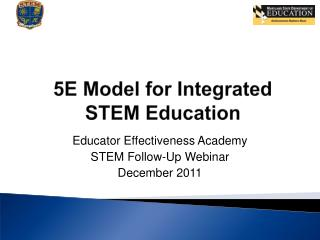 5E Model for Integrated STEM Education