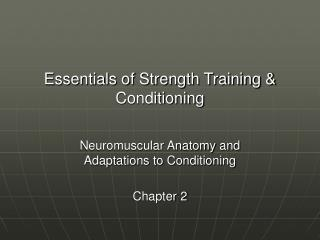 Essentials of Strength Training & Conditioning