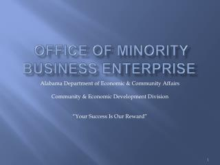 office of minority business enterprise