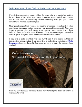Cello Insurance - Some Q&A to Understand Its Importance
