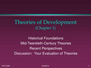 Theories of Development (Chapter 1)