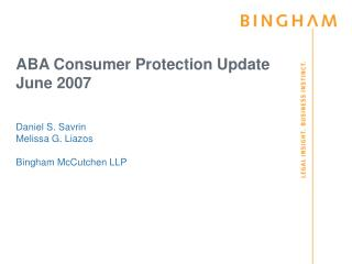 ABA Consumer Protection Update June 2007