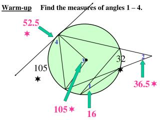 Warm-up Find the measures of angles 1 – 4.