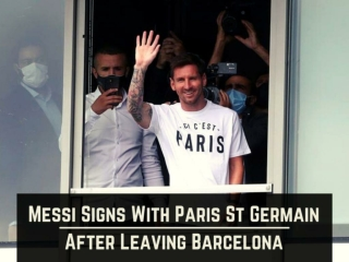 Messi signs with Paris St Germain after leaving Barcelona