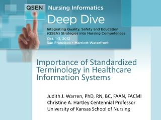 Importance of Standardized Terminology in Healthcare Information Systems