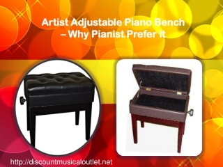 Artist Adjustable Piano Bench – Why Pianist Prefer It