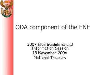 ODA component of the ENE