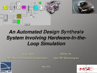 An Automated Design Synthesis System Involving Hardware-In-the-Loop Simulation Steve Hann