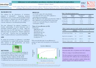 Adherence to oral methadone: prevalence, correlates & implications for prescribers