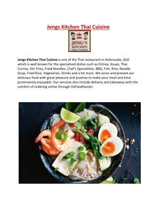 5% off - Jengs Kitchen Thai Restaurant menu Helensvale, QLD