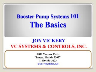 Booster Pump Systems  101 The Basics