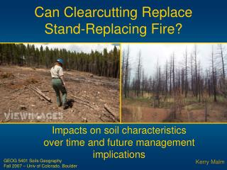 Can Clearcutting Replace Stand-Replacing Fire?