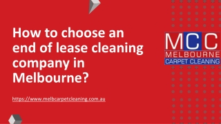 How to choose an end of lease cleaning company in Melbourne