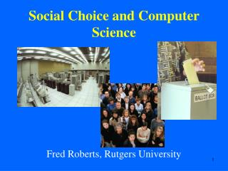 Social Choice and Computer Science