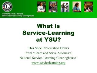 What is  Service-Learning at YSU?