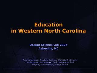 Education in Western North Carolina