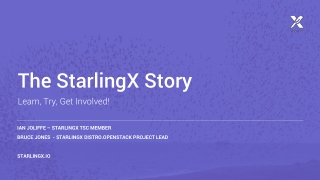 The StarlingX Story