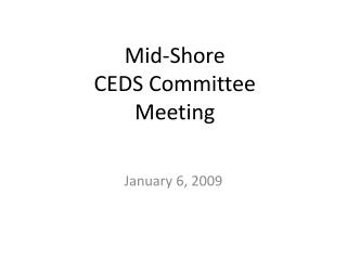 Mid-Shore  CEDS Committee Meeting