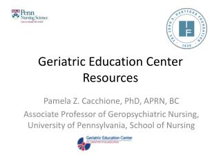 Geriatric Education Center Resources