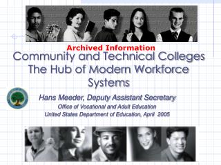 Community and Technical Colleges The Hub of Modern Workforce Systems