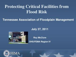 Protecting Critical Facilities from Flood Risk