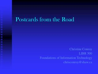 Postcards from the Road