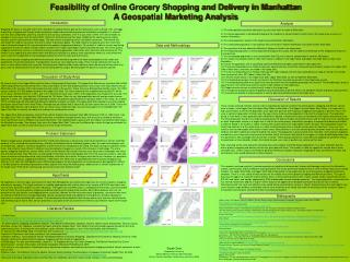 Feasibility of Online Grocery Shopping and Delivery in Manhattan  A Geospatial Marketing Analysis