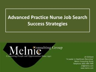 Advanced Practice Nurse Job Search Success Strategies