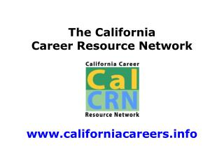 The California Career Resource Network