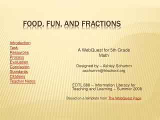 Food, Fun, and Fractions