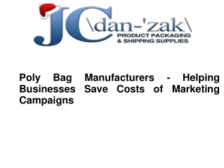 Poly Bag Manufacturers