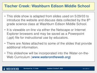 Tischer Creek: Washburn Edison Middle School
