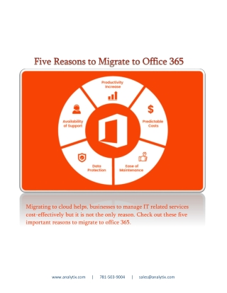 Five Reasons to Migrate to Office 365