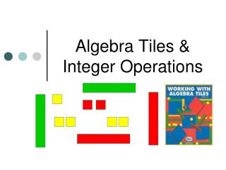 Algebra Tiles  Integer Operations