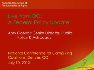 Live from DC: A Federal Policy Update