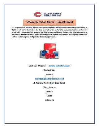 Smoke Detector Alarm   Hooseki.co.id