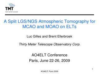 A Split LGS/NGS Atmospheric Tomography for MCAO and MOAO on ELTs
