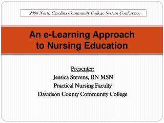 An e-Learning Approach  to Nursing Education