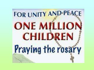 Because the world urgently needs Peace and Unity  Because God wants us to pray   Because prayer leads to faith, faith le