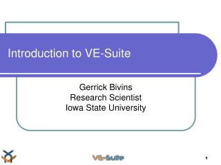 Introduction to VE-Suite